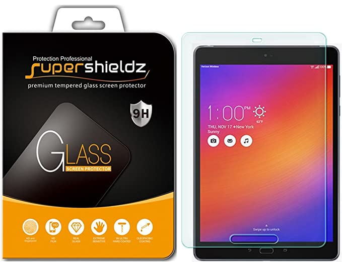 Supershieldz for Asus Zenpad Z10 (Verizon) Tempered Glass Screen Protector,  Anti-Scratch, Bubble Free