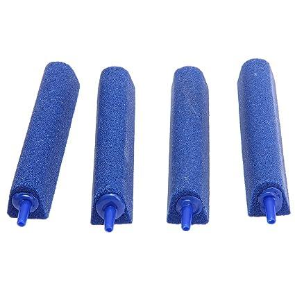 FACILLA®4 x Piedra Difusor de Aire Triángulo para Acuario Pecera Azul 10x2cm
