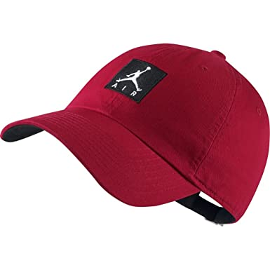 Jordan Gorra Heritage86 Jumpman Air Rojo Ajustable: Amazon.es ...