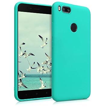 kwmobile Funda para Xiaomi Mi 5X / Mi A1 - Carcasa para móvil en [TPU Silicona] - Protector [Trasero] en [Turquesa neón]