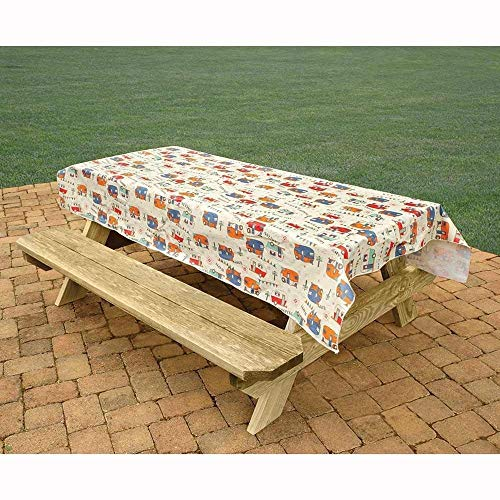 (Bowery Camping Trails Tablecloth)