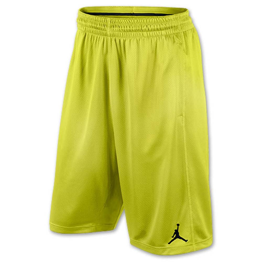 Jordan Boys Grade School Jumpman Basketball Shorts (Large, Volt)