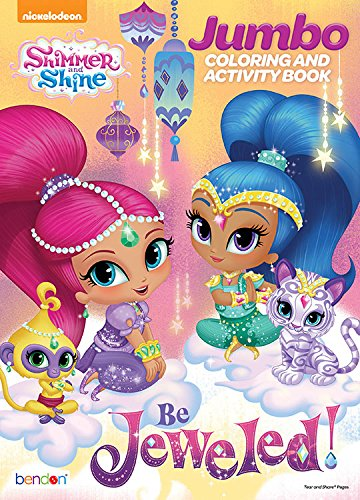 Bendon Shimmer And Shine Jumbo Coloring Activity Book