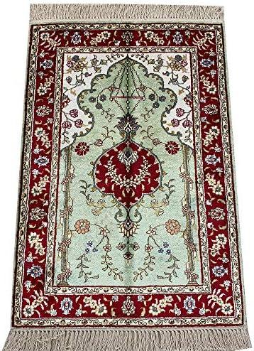 Yilong 2'x3' Vintage Silk Persian Rug Classic Tabriz Oriental Handmade Carpet