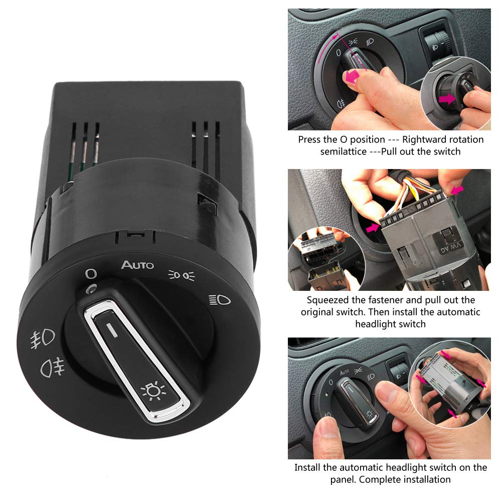 KIMISS Light Sensor Module Lamp Control Switch for MK4 B5 Polo