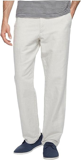 Amazon Com Nautica Hombre Frente Plano Lino Pant 36 Cintura X 32 Largo Trigo Wheat Flax Clothing
