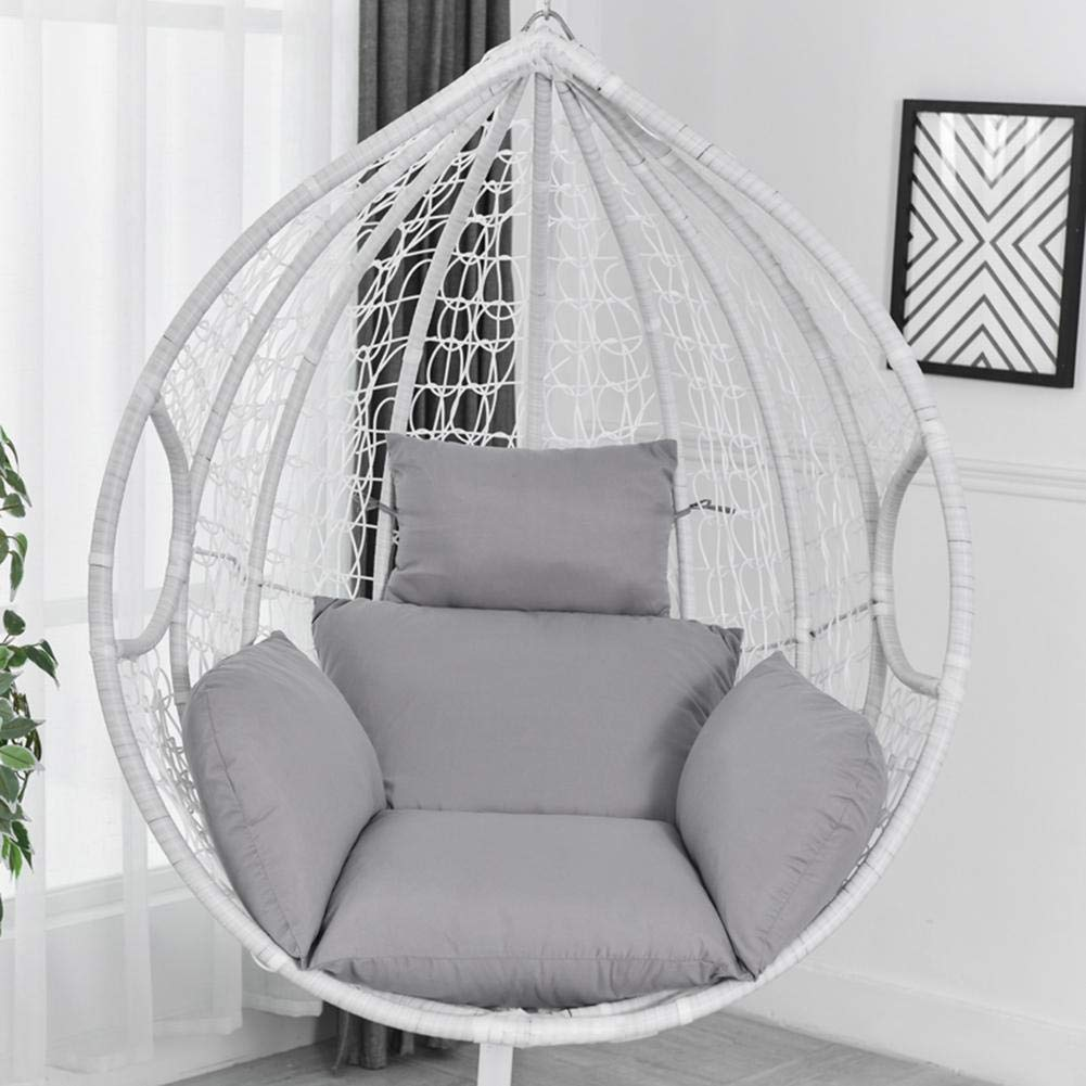 Garden Yard With Round Seat Cushion for Indoor Outdoor Patio Display4top Beige Hammock Chair Macrame Swing,Hanging Cotton Rope Swing Chair,Comfortable Sturdy Hanging Chairs Home