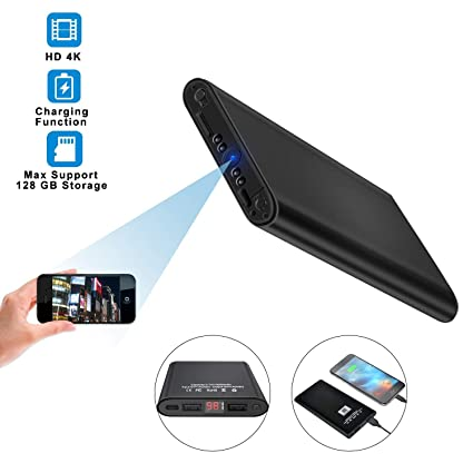 Amazon com: WiFi Spy Camera Wireless Hidden Camera Power Bank Nanny