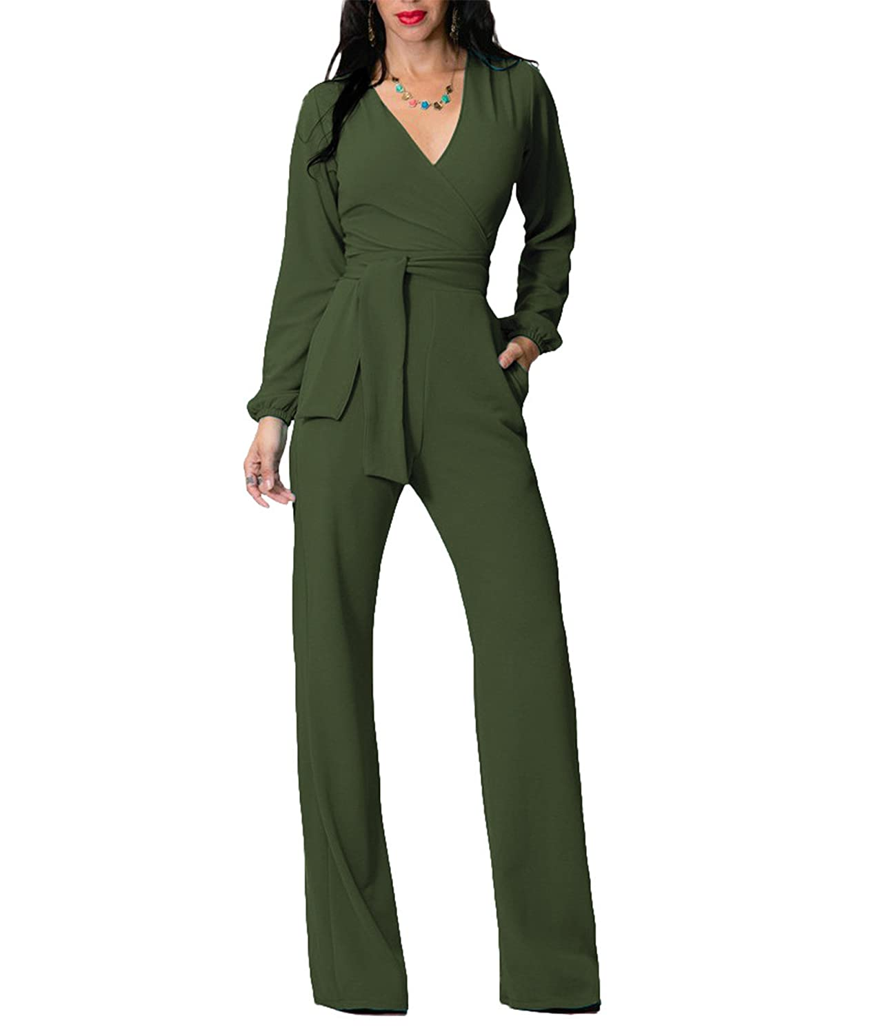 deebdd3fe4fc Amazon.com  IyMoo Women Black Sleeveless Playsuit Club Cocktail Jumpsuit  Romper Army Green Medium  Clothing