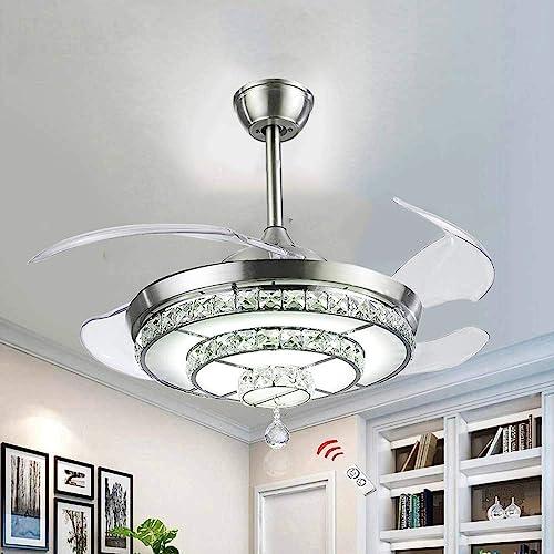 BIGBANBAN Crystal Ceiling Fan