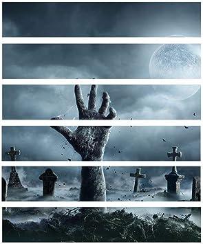 Cementerio Mano Fantasma Pegatinas de Escaleras Pelar Y Pegar Cloruro de Polivinilo Calcomanías para Habitación/Como se muestra / 1 juego: Amazon.es: Bricolaje y herramientas