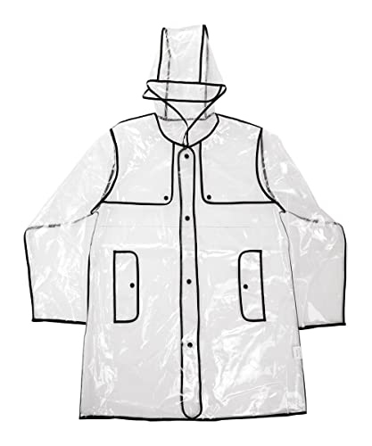 DSstyles moda hermosa niña de las mujeres impermeable con capucha transparente impermeable 100% EVA ...
