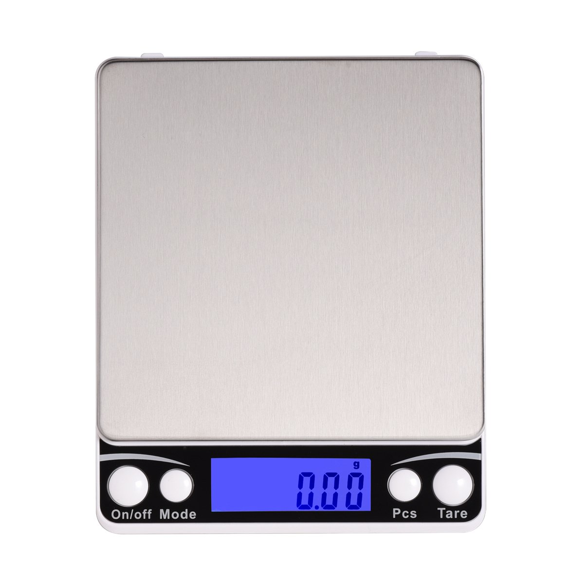 Xornis 500g x 0.01g Digital Pocket Scales Portable High Precision Jewelry Food Coffee Tea Kitchen Scale with Stainless Steel Platform, Back-Lit LCD Display, Tare and PCS Features (2 Trays Included)