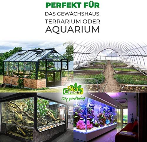 Bio Green Aufzuchtartikel Silikon Bodenheizkabel Weiß 10 0 M 100 W Garten