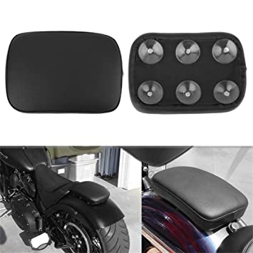 1PC Motorcycle Rear Seat With Suction Cup Retro Cushion Pillion Pad Passenger Conversion