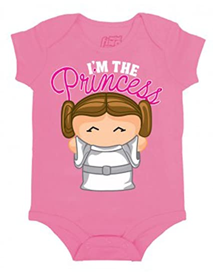 e77d7932 Star Wars Daddys Little Princess Leia Baby Creeper Romper Snapsuit Size:  0-6 Months