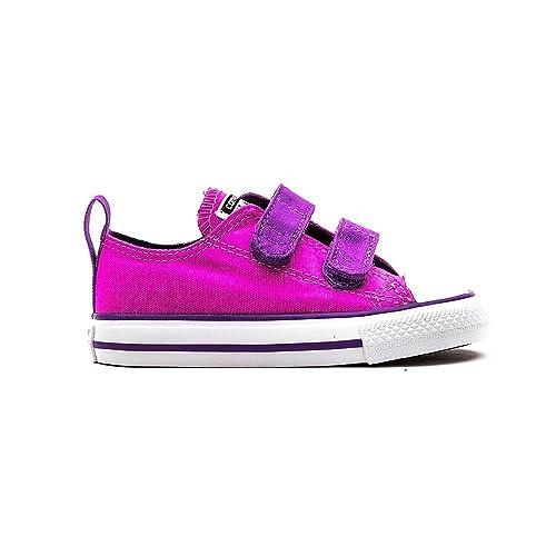 Converse All Star 2V Oxford Girls Infant Canvas Shoes 4 Dahlia Pink Purple 4b5073f685f55