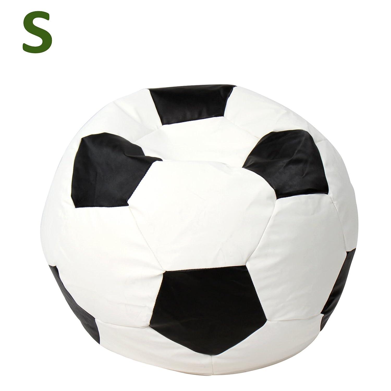 Miadomodo Jago - Sillón Puff en Forma de Pelota de fútbol de tamaño 70 cm