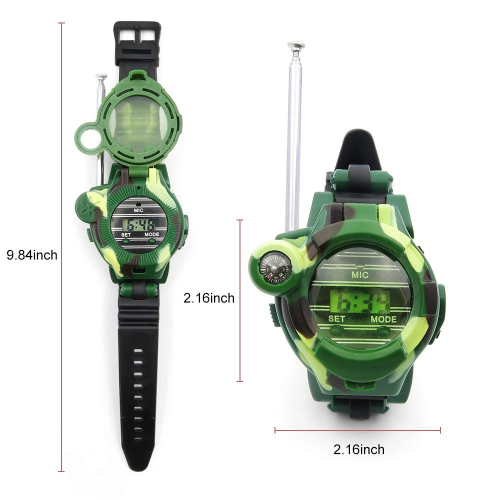 Kids Walkie Talkies, XHAIZ Long Range Walky-Talky Watch for Kids, Cool Outdoor Gifts For Boys and Girls by XHAIZ (Image #2)
