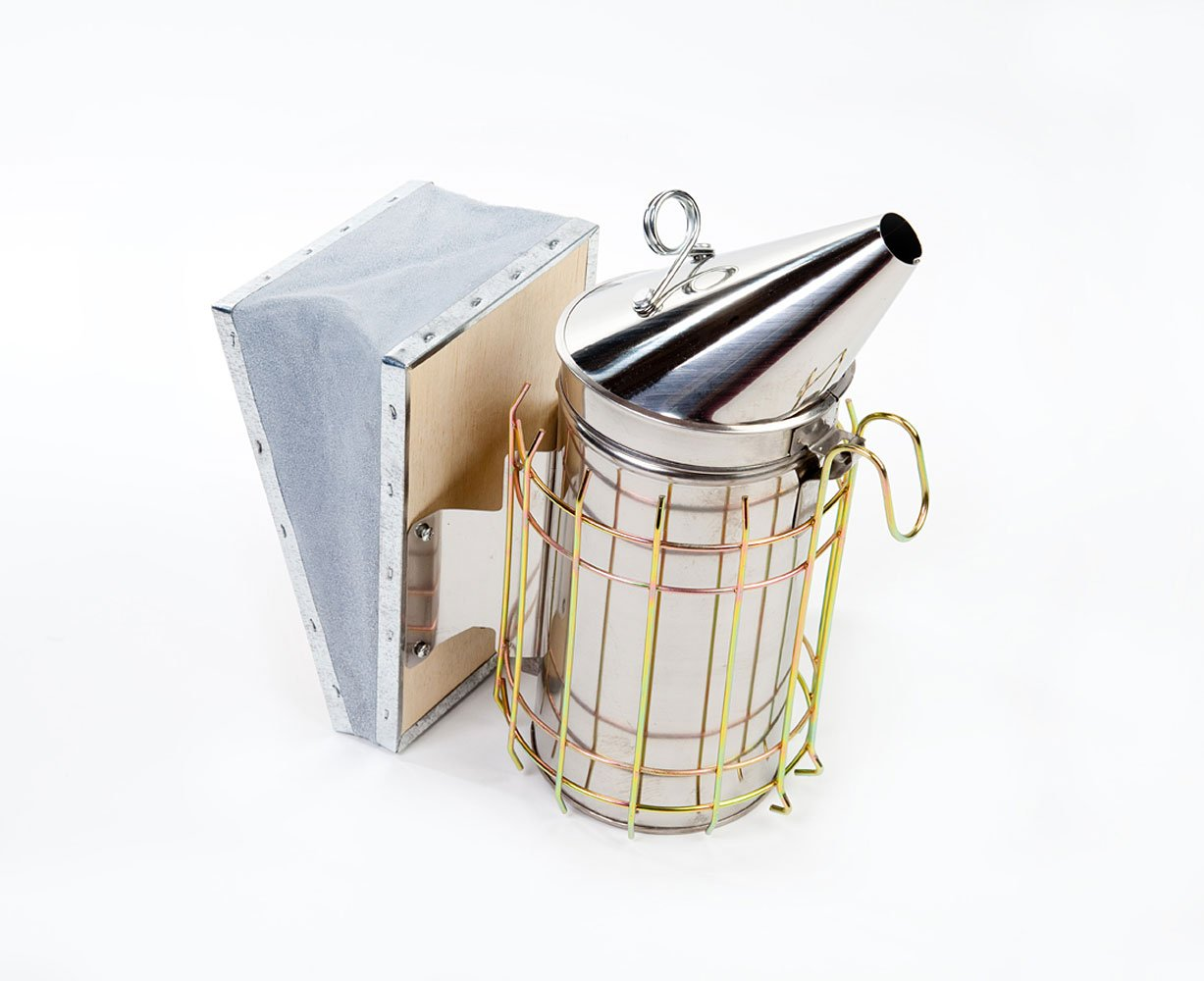Gloves and Tool Large//Large Wax Suit Smoker Easipet Starter Kit National Bee Hive in Cedar with Frames