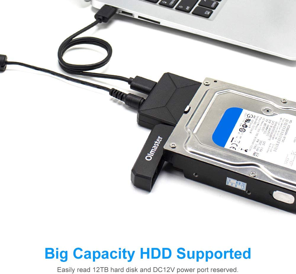OImaster EB-0001BU3 2.5//3.5 SATA I//II//III to USB3.0 Adapter Hard Drive Box Converter for SSD HDD