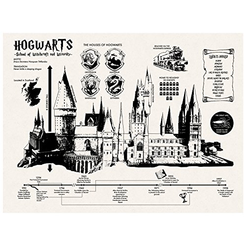 Inked and Screened SP_Arch_HogwartsInfo_TW_24_K Wall Art