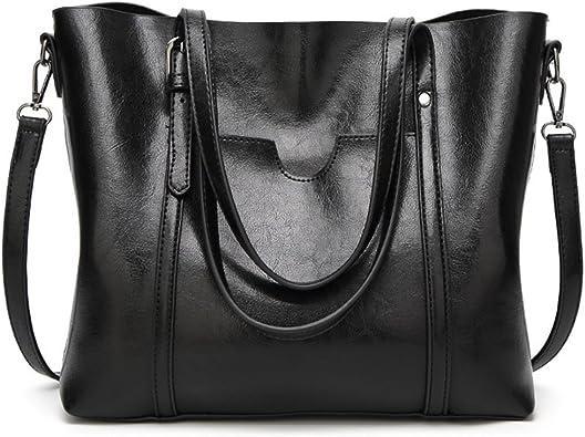 F.anlos Sacs à Main Femme, Cabas pour femme, Sacs à Bandoulière PU Cuir, Noir301425 cm (L*W*H)