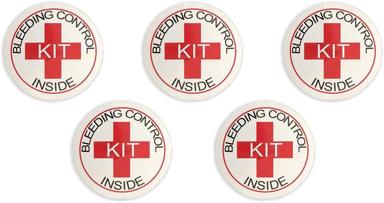 Bleeding Control Designation Stickers - 5 Pack by Rescue Essentials