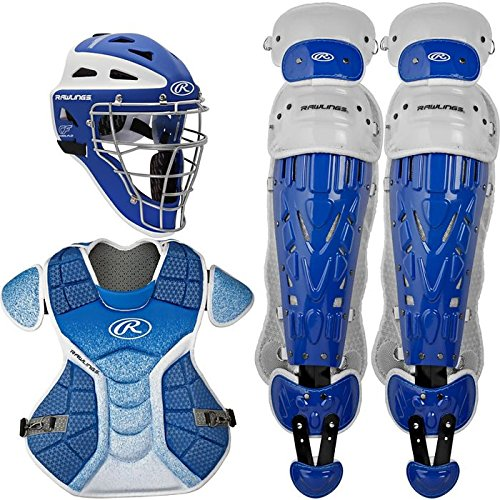 Rawlings Sporting Goods VCSY-R/W Catcher Set Velo Series Protective Gear, Royal/White, Age 12 & Under -