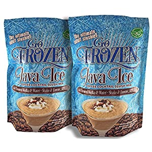 Go Frozen Java Ice Organic Slushie Mix in A Pouch Makes Iced Coffee, Vodka, Rum, Whiskey And Adult Ice Cream, Milkshake Cocktails, Two 10 Ounce Pouches (Pack of 2)