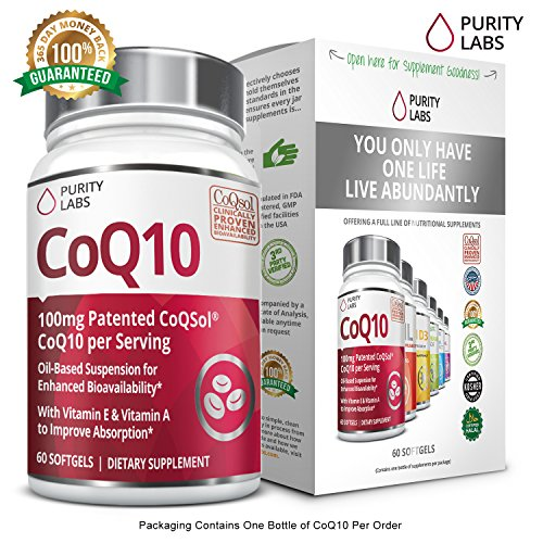 Strength Ubiquinone Softgels Coenzyme Absorption