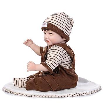 Silicone Vinyl Nicery Reborn Baby Doll Simulación Suave 22 Pulgadas 55 Cm Boca Magnética Realista Ojos