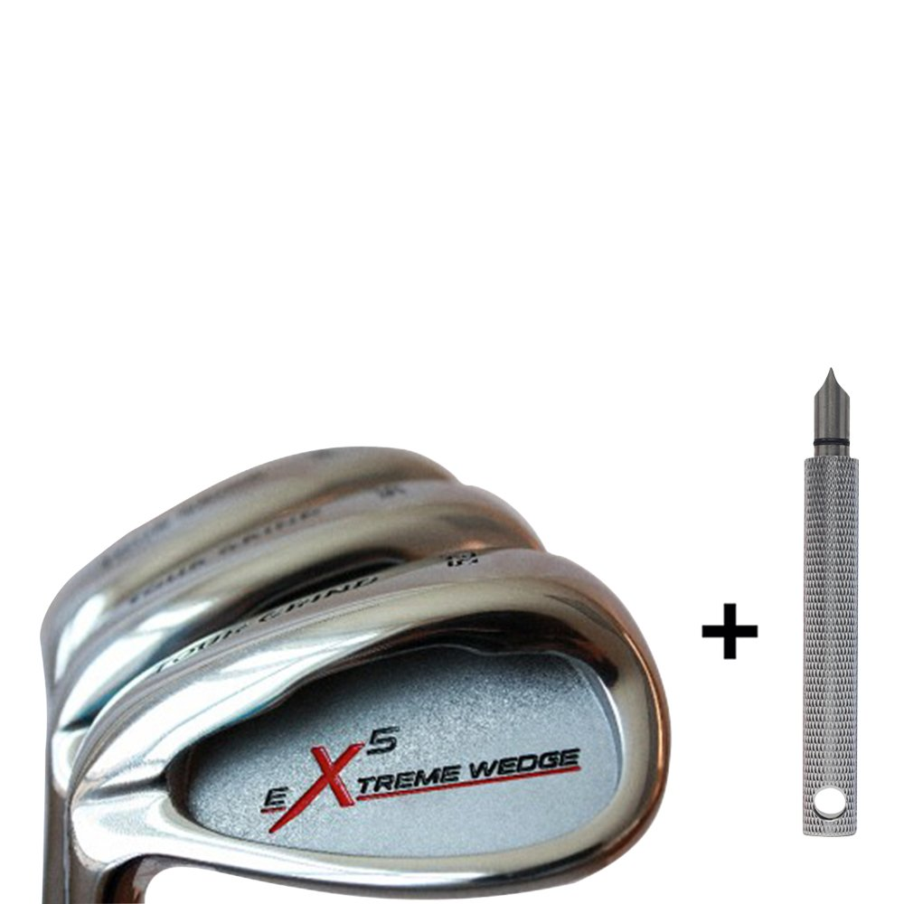 Left Handed Tour Grind Men s Complete Golf Wedge Set 52 Gap Wedge GW , 56 Sand Wedge SW , 60 Lob Wedge LW Regular Flex Steel Shaft. Free Wedge Groove Sharpener Silver