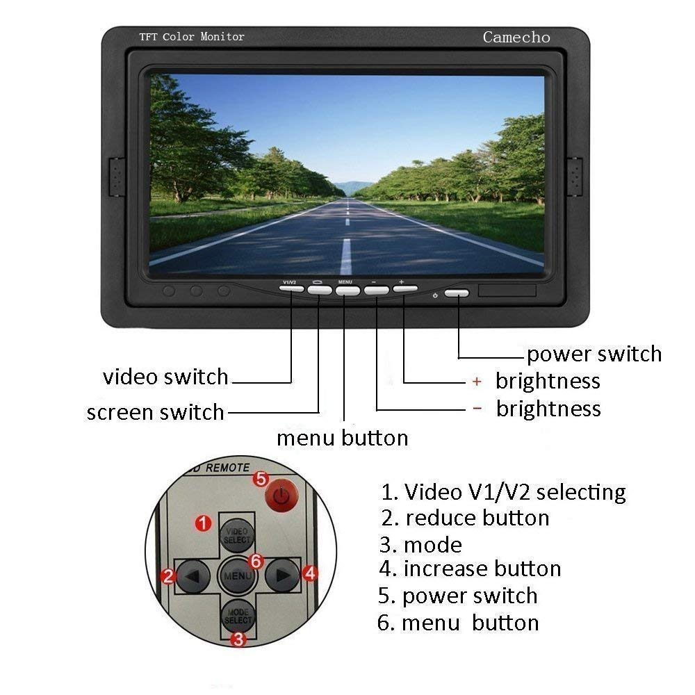 Vehicle Electronics & Gps 2.4ghz Wireless Rear View Video Transmitter & Receiver For Car Camera Monitor Consumer Electronics