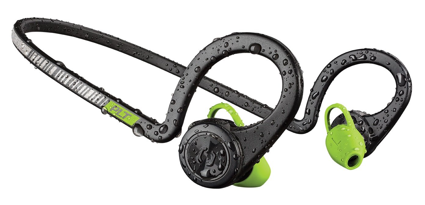 Plantronics BackBeat FIT Wireless Bluetooth Headphones - Waterproof Earbuds with On-Ear Controls for Running and Workout, Black Core by Plantronics