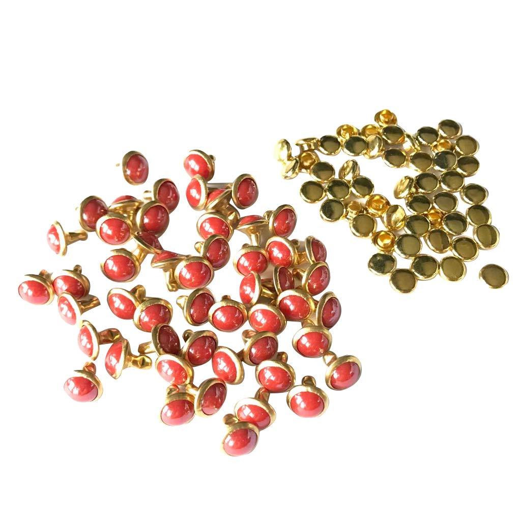 50 Stück Nieten Ziernieten Perle Nieten Schmucknieten DIY Rivets