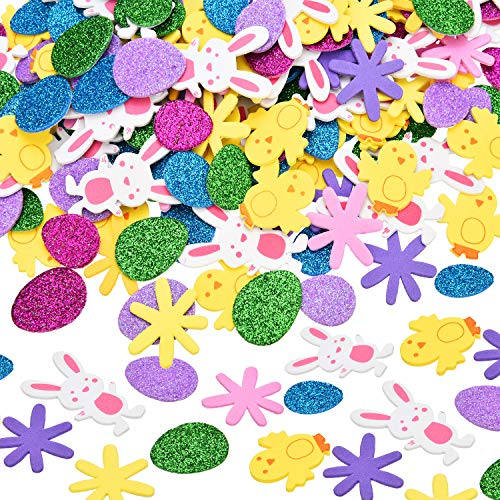 Easter Foam Stickers Self Adhesive Glitter Eggs Sticker