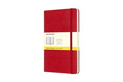 Moleskine Classic Hard Cover Notebook Squared Large