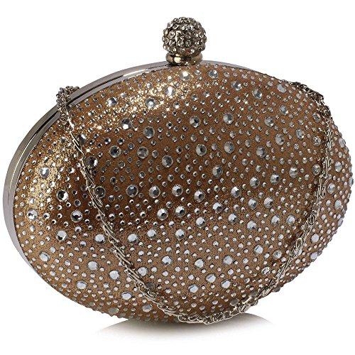 Design Evening Ladies New Case Diamante Handbag Hardcase Box Hard Party Luxury Nude 1 Clutch Bag Sparkly O1wRq0F