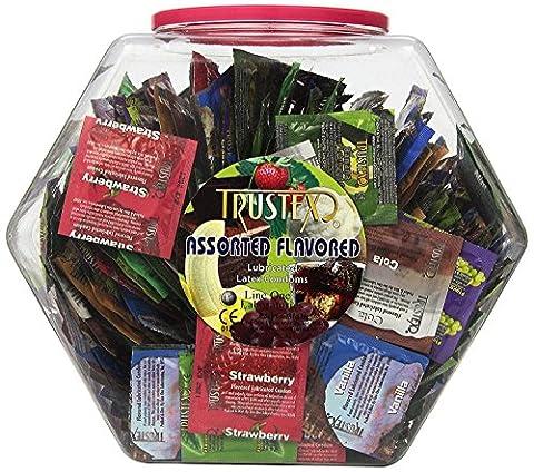 Line One Laboratories Trustex Asst Flavor Condoms, 288/Bowl - Trustex Chocolate Flavored Condoms