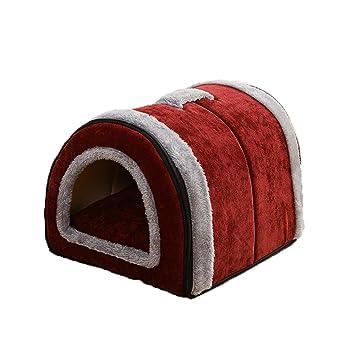Caseta de la Mascota Caseta Nido del Gato Lavable Plegable Perro pequeño Perro Mediano Cama para