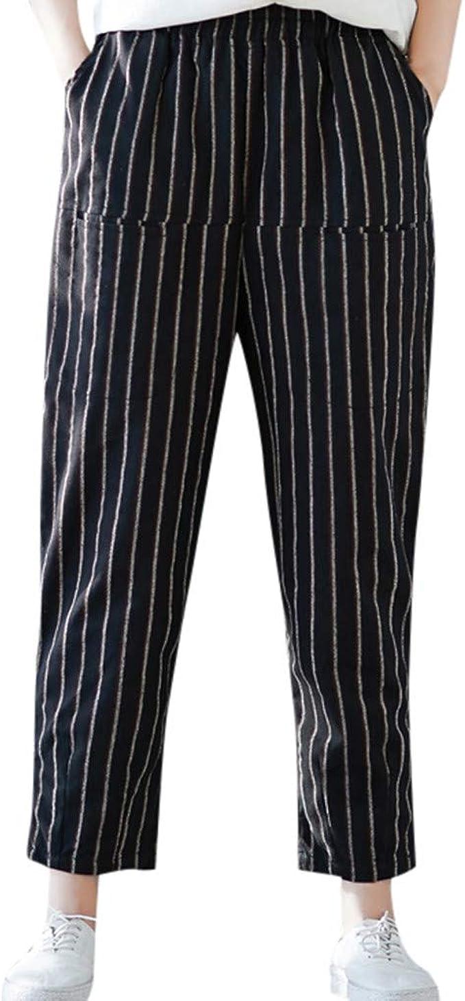 cinnamou Pantalones Mujer, Casual Pantalones Chinos Cintura Alta ...