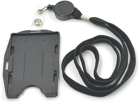 Multi Card ID Holder Vertical or Horizontal /& Retractable Carabiner Badge Reel
