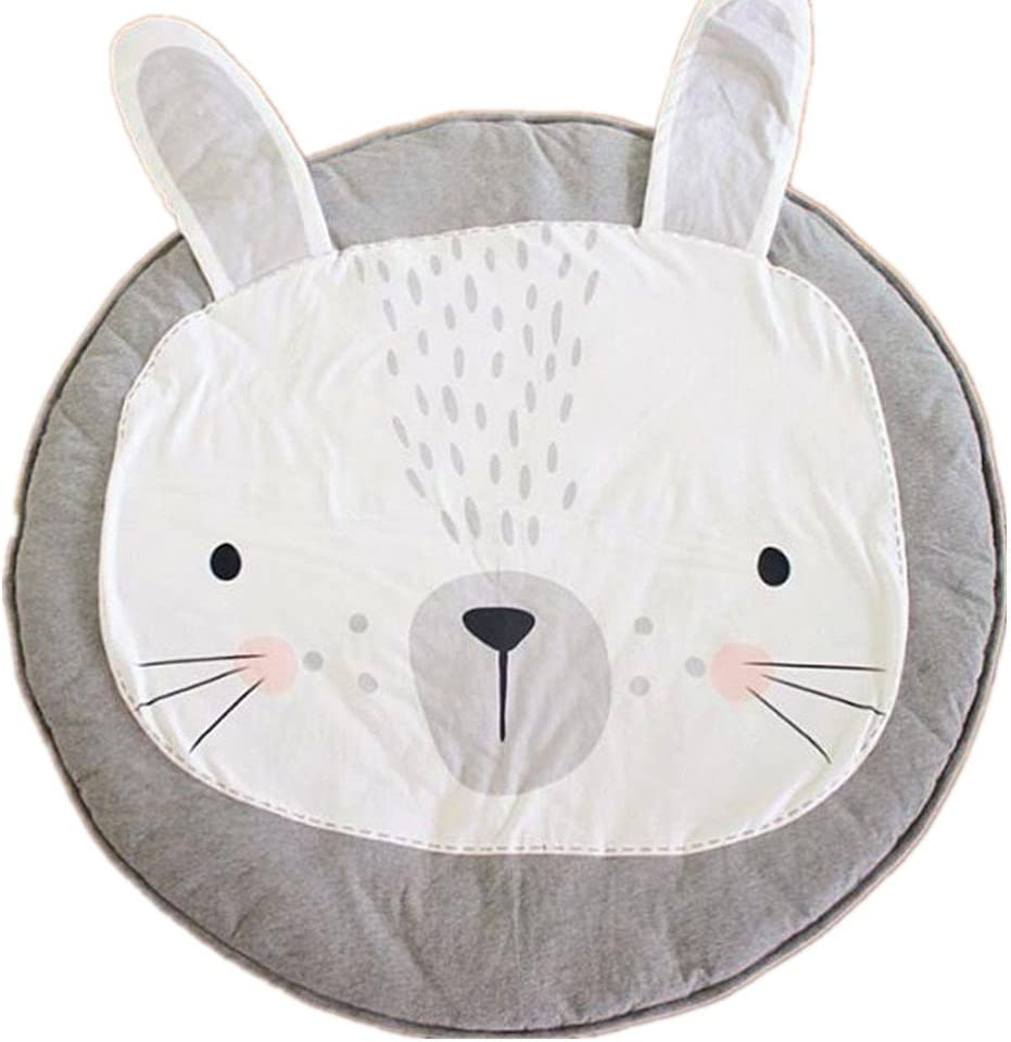 Abreeze Play Pad Swan Baby Round Rug Crawling Mat Crawl Cushion Air-Conditioned Rug for Kids Children Toddlers Bedroom