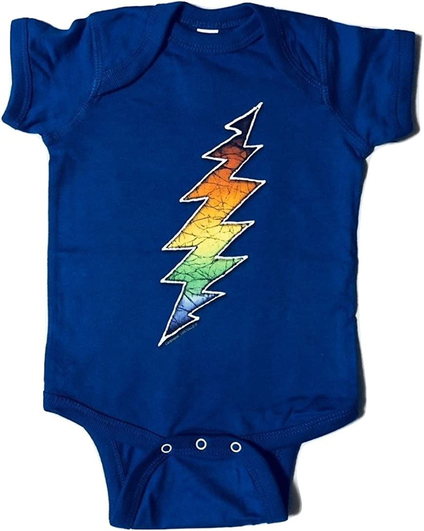 Licensed Grateful Dead Bolt Blue One Piece Romper by Dye The Sky