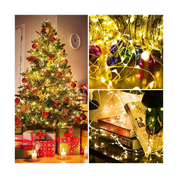 Stringa Luci LED Batteria, 2 Pacchi 4M 40 LEDs Catena Luminosa, Luci Natale Impermeabili per Natalizie Decorazioni Interni ed Esterni (Bianco Caldo) 2 spesavip