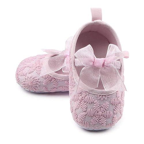 Página web oficial excepcional gama de estilos colores armoniosos Nagodu Zapatos para niña Rosas con moñito, Ideales para Bebes recién  Nacidos, Varias Medidas, excelente Calidad