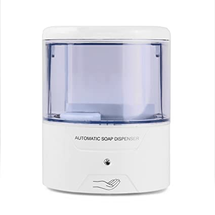 LemonBest® Soporte de pared dispensador de jabón líquido Sensor automático de movimiento, libre Touch