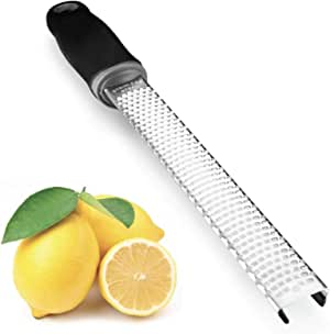 Cedara Living Australia - Lemon Zester - Hand Held Grater - Razor-Sharp Stainless Steel Blade - Dishwasher Safe. Perfect for Grating Cheese, Citrus, Nutmeg, Lime, Garlic, Orange