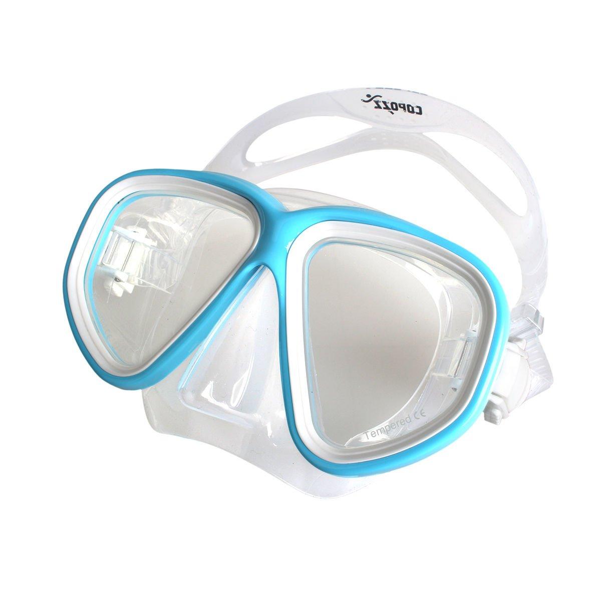 ライトブルーダイビングマスクゴーグル水泳ダイビングゴーグルメガネ曇り止めUV Underwater
